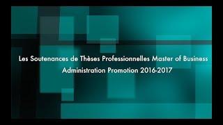 Les soutenances de thèses professionnelles MBA
