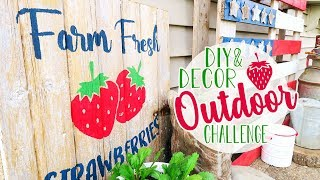 Farmhouse Outdoor Decor | DIY Strawberry Sign | DIY Mommy Outdoor Challenge