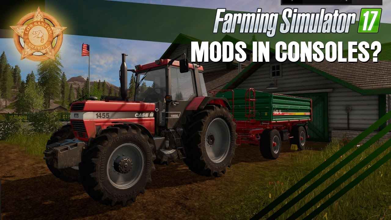 Farming Simulator 17 - The PS4 Mod Menu Sneak Peek