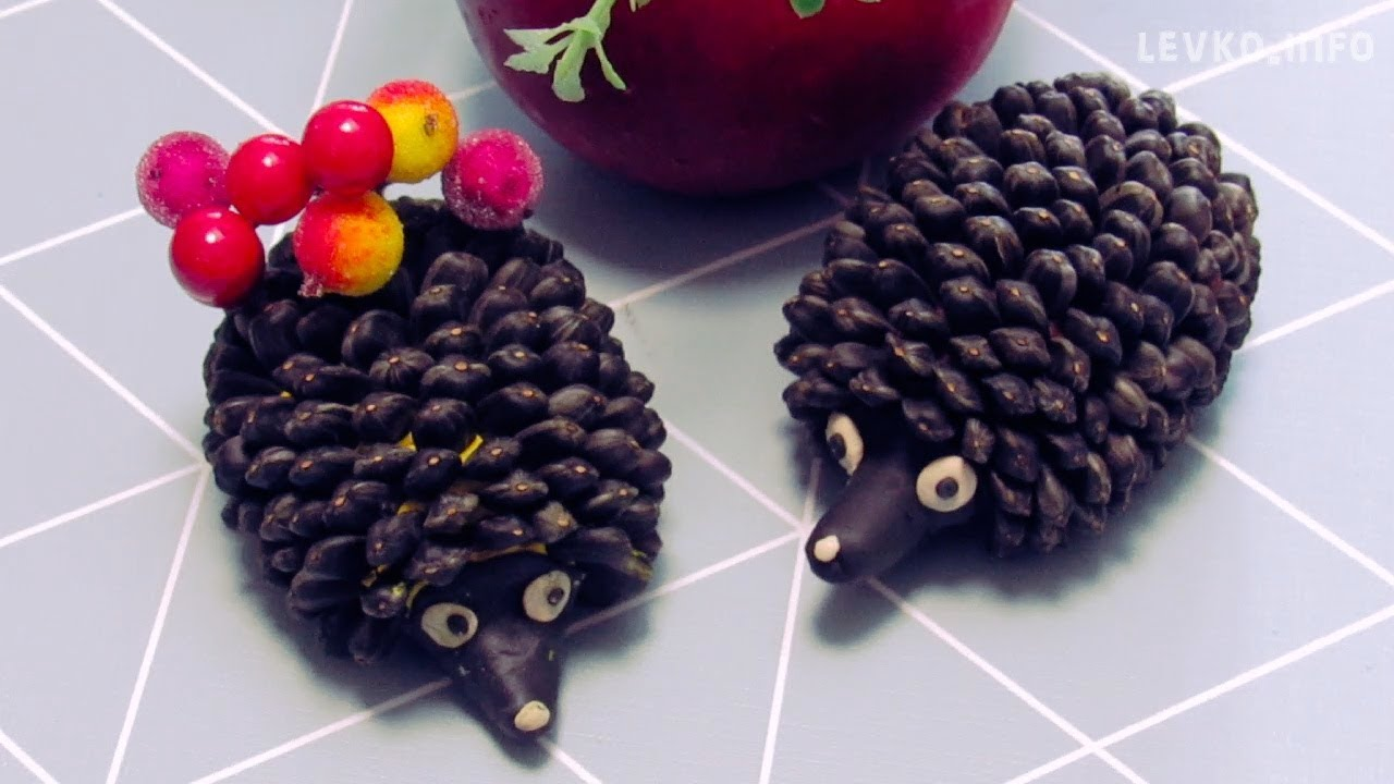 Як зробити їжачка з пластиліну та насіння | Дитячий сайт Левко ...