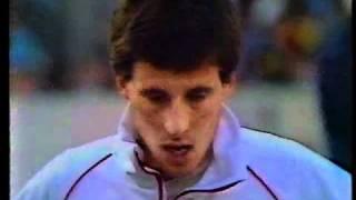 Seb Coe,  England v USA, 800m, London 1981.