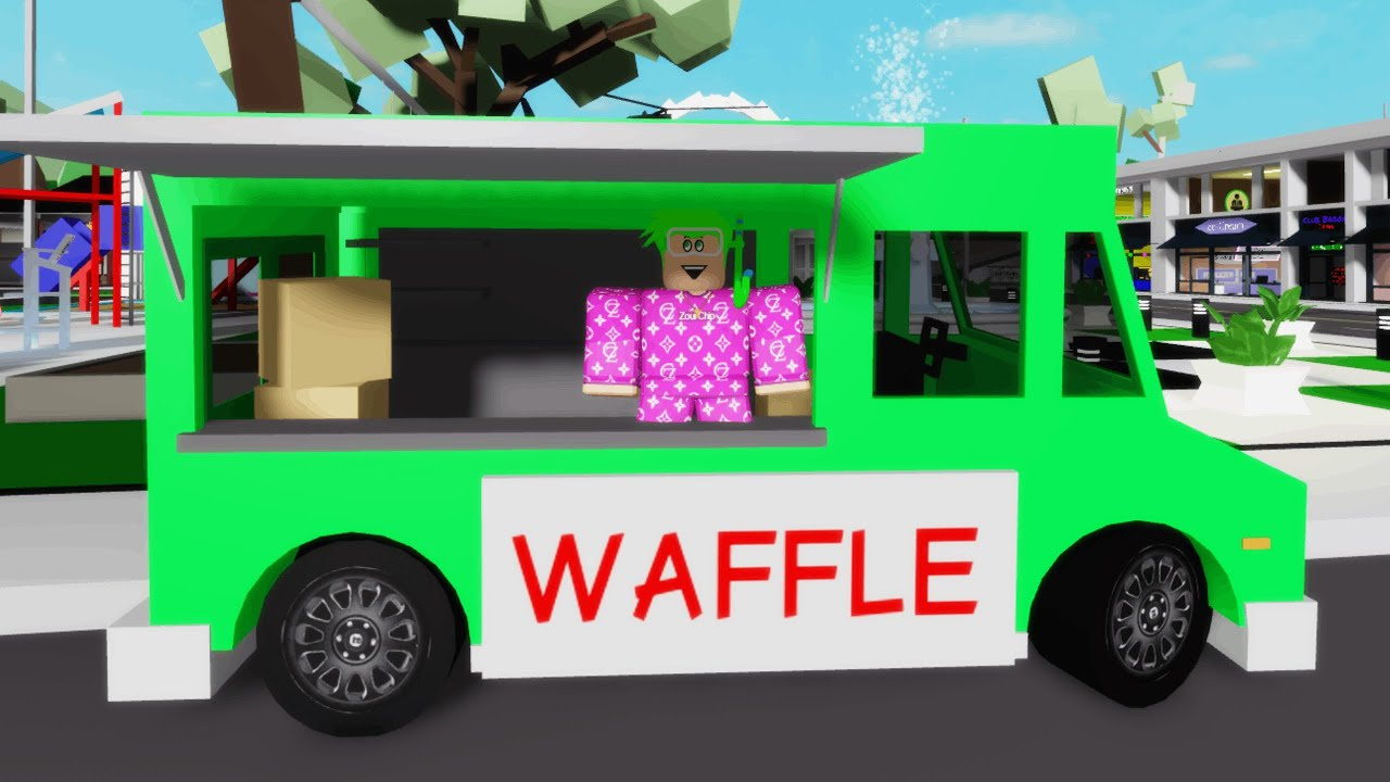 WAFFLE TRUCK IN BROOKHAVEN! (Roblox)