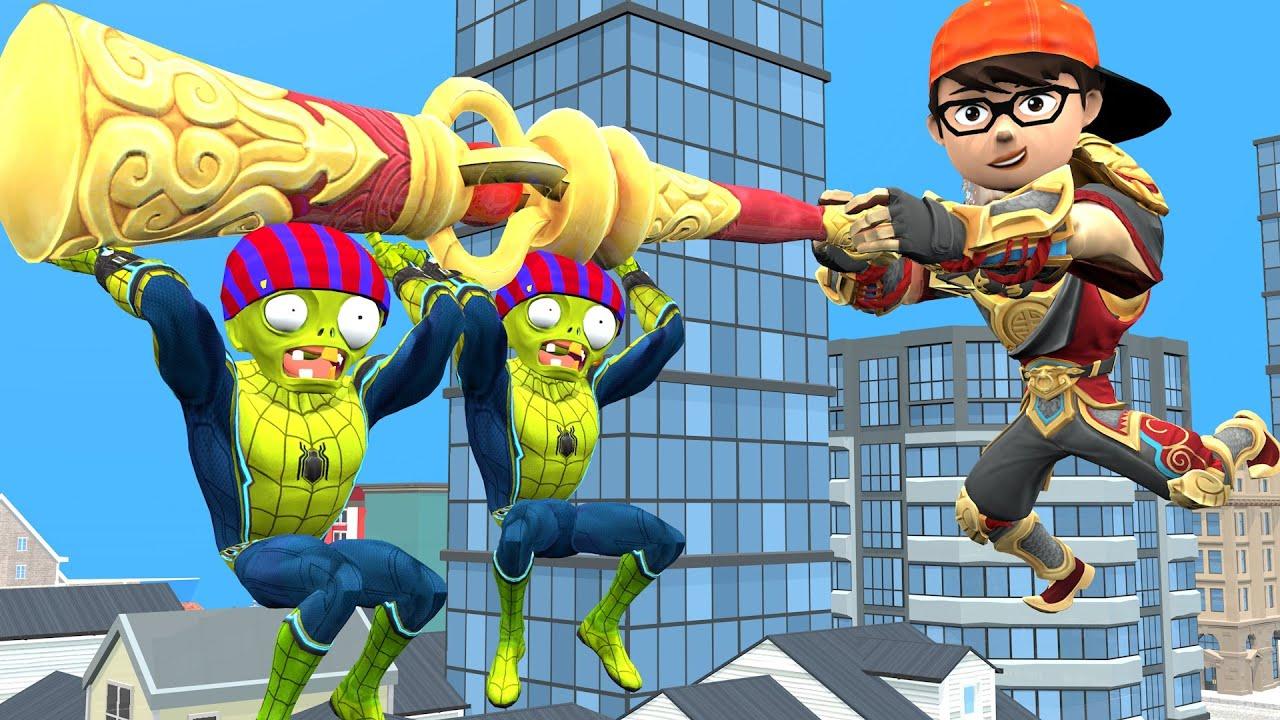 Scary teacher 3D Wukong Nick & Spiderzombie - Nickjoker love Tani Harley Quinn troll Animation