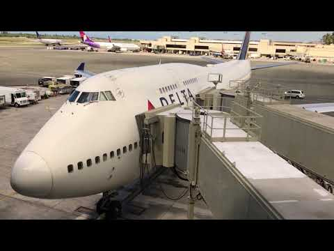 Aloha 'Oe: DL1284 HNL-LAX 9-5-2017 Boeing 747-400 Final Flight