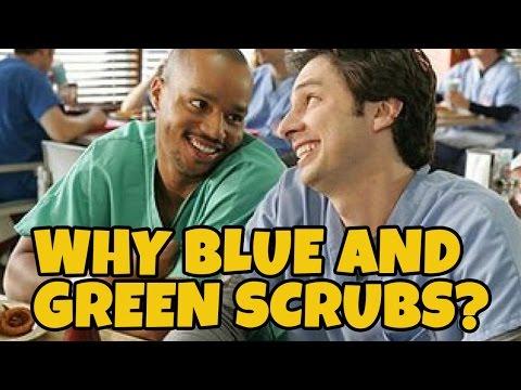 Why do Doctors Wear GREEN or BLUE Scrubs?
