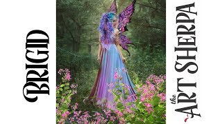 Brigid Spring Queen Fairy Acrylic Painting tutorial BAQ #2