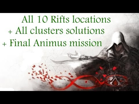"""Assassin's Creed: Brotherhood"", All 10 Glyphs locations + All clusters solutions for ""The Truth"""