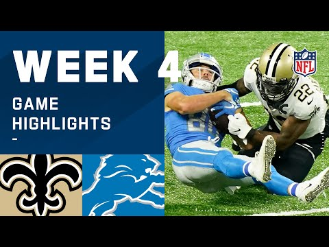 Saints vs. Lions Week 4 Highlights | NFL 2020