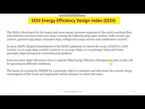 EEDI concept and calculation #ship #EEDI #SEEMP #ENERGY EFFICIENCY