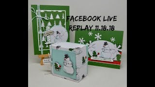 Facebook Live Replay 11.18.18
