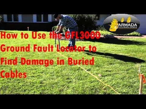 How to Use the Armada GFL3000 Ground Fault Locator to Find Damage in Buried Cables