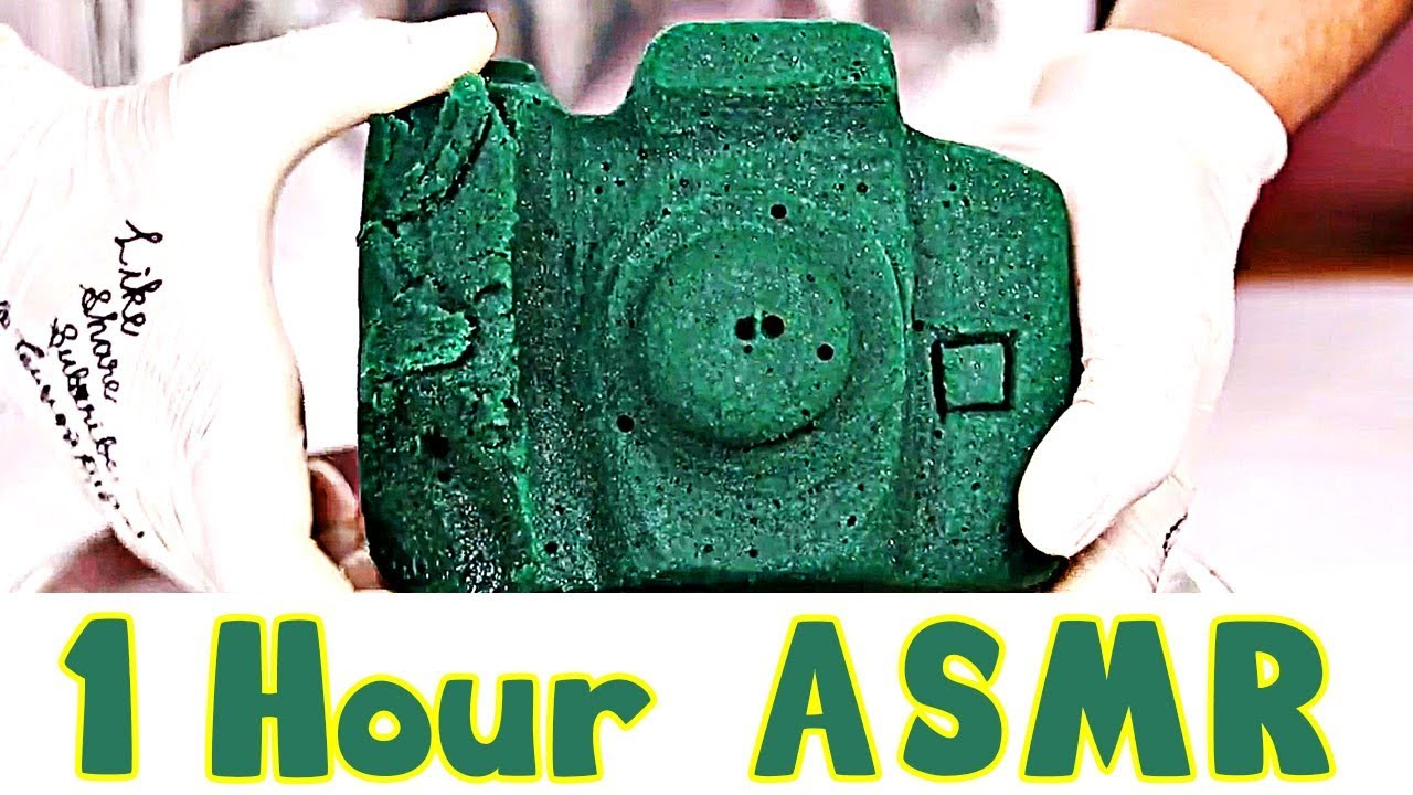 1 Hour Asmr Floral Foam Experience Crushing And Cutting Floral Foam
