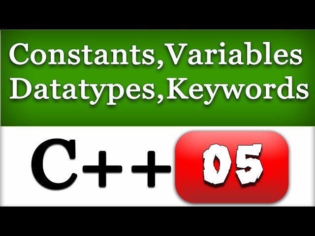 05   C   Constants  Variables  Data types  Keywords   C   Programming Video Tutorial - YouTube