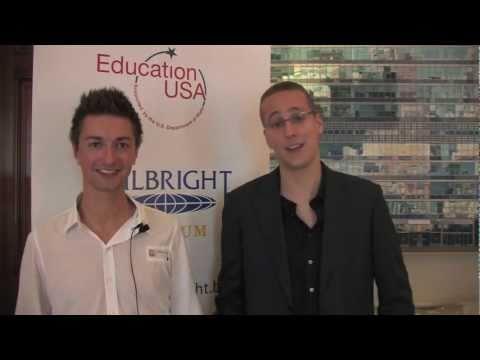 Fulbright French Language Teaching Assistants: Pieter Van Bocxlaer and Pascal Maquinay