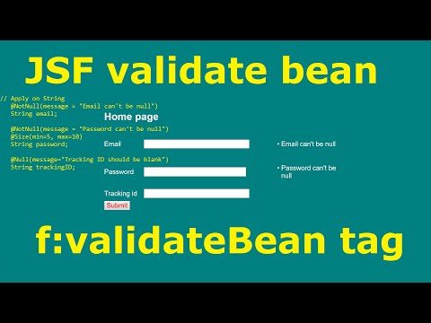 JSF  BEAN VALIDATION  ON STRING TYPE VALUES F:validateBean Tag