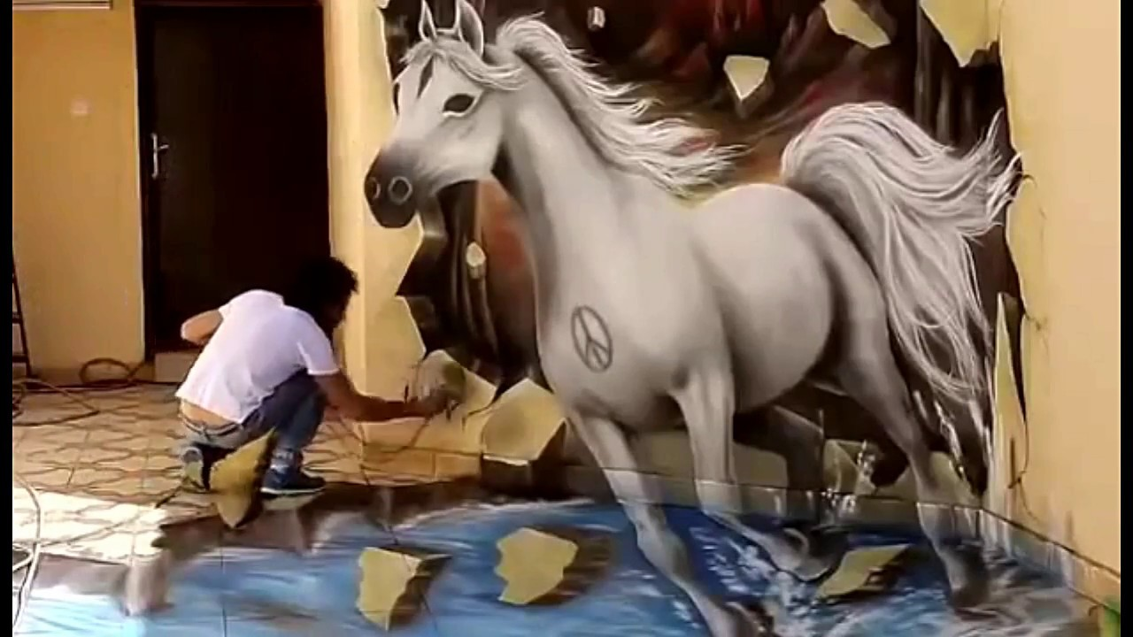 3d wall painting art flower top 10 amazing 3d wall painting youtube