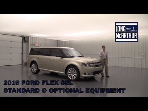 FORD FLEX SEL STANDARD AND OPTIONAL EQUIPMENT