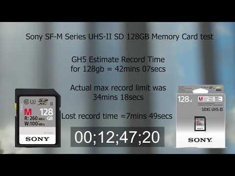 GH5 4K 10bit 400mbs Sony SF-M Series UHS-II SD 128GB Memory Card test