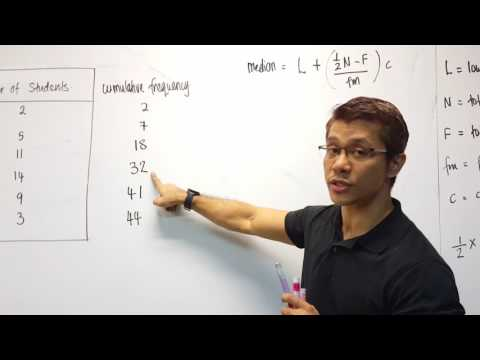 Calculating Median Using Formula