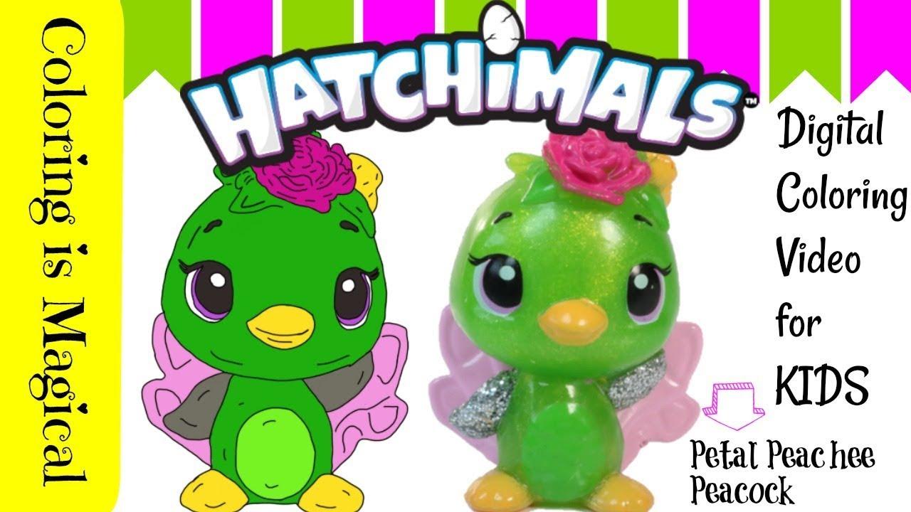 Digitally Color Hatchimals Peacock Toy Coloring Page Unique