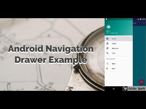 Android Navigation drawer demo