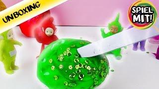 Teletubbies ÜBERRASCHUNGSEIER aus Knete mit ganz viel Glitzer | Was ist da drin? Surprise Eggs | Spiel mit mir - Kinderspielzeug