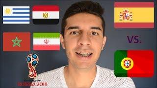 RESULTADOS ESPAÑA VS PORTUGAL Y URUGUAY VS EGIPTO 15/06/2018 / MUNDIAL RUSIA 2018