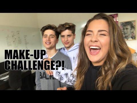 MAKE-UP VOICEOVER CHALLENGE W/ THE MARTINEZ TWINS!