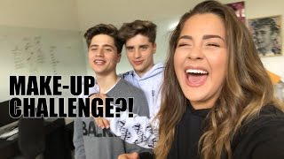 MAKE-UP VOICEOVER CHALLENGE W/ THE MARTINEZ TWINS!