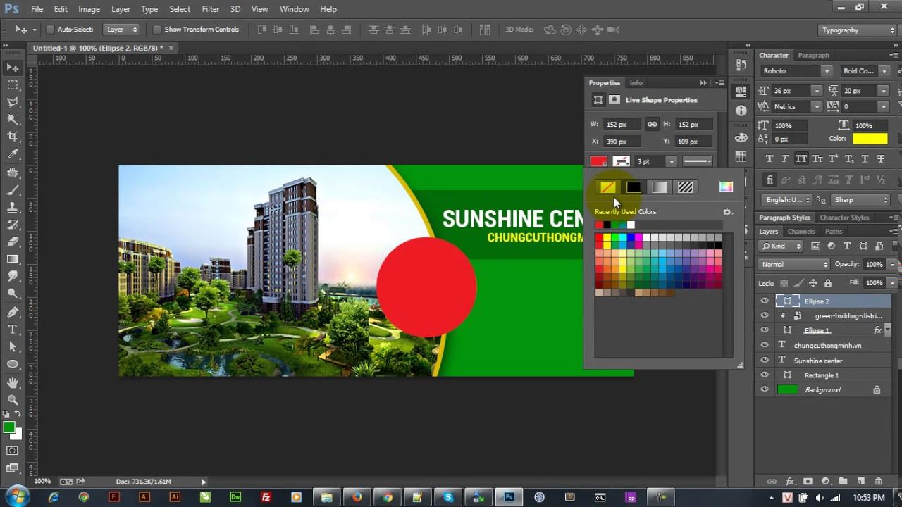 Hướng dẫn thiết kế banner đơn giản bằng photoshop