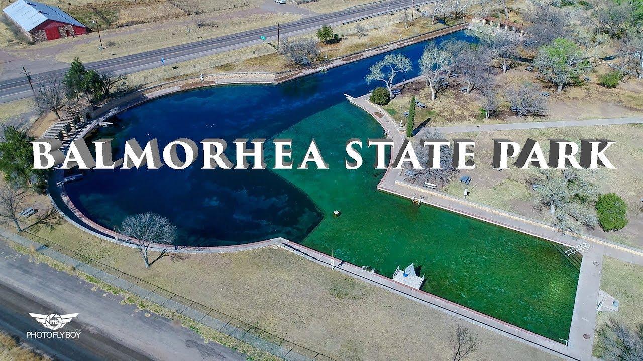 Balmorhea State Park, San Solomon Springs, 4k Drone Texas ...