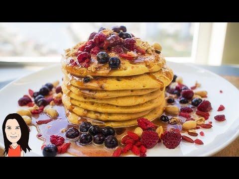 Gluten Free Pumpkin Pancakes with Peanut Maple Sauce Vegan Recipe | iHerb