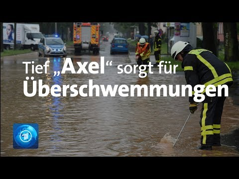 """Überschwemmungen und Starkregen: Tief """"Axel"""" sorgt für Unwetter"""
