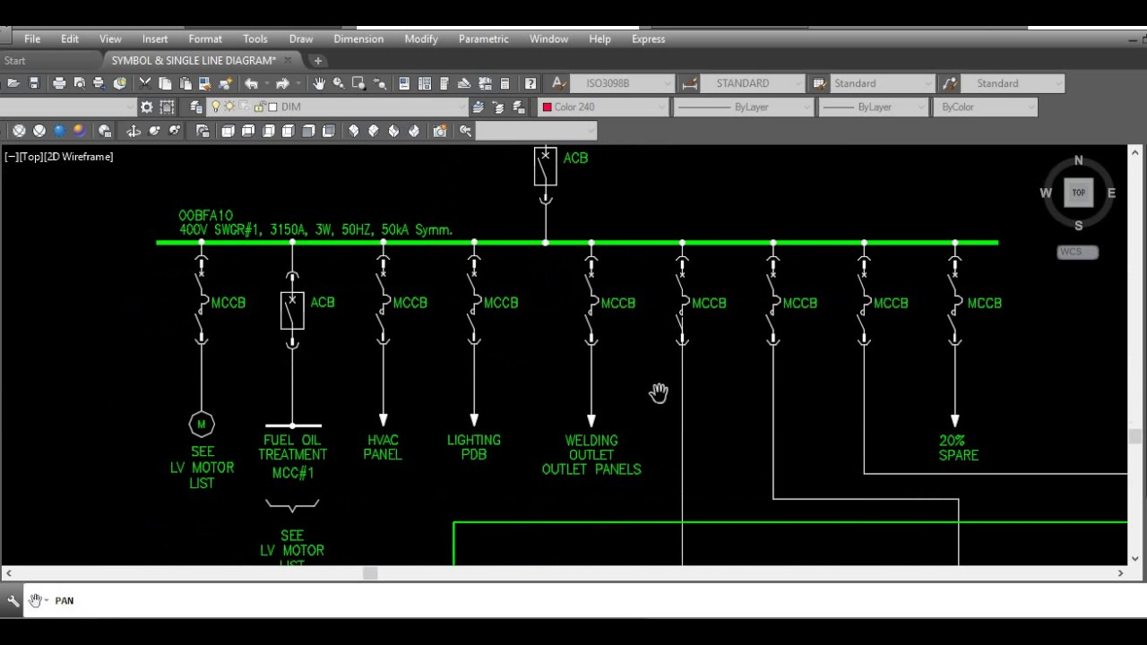 แจก SYMBOL & SINGLE LINE DIAGRAM AutoCAD - YouTube