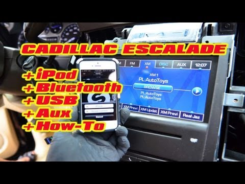 Cadillac Escalade IPHONE BLUETOOTH USB ANDROID ISIMPLE Connect MP3 AUX ISGM651 Installation