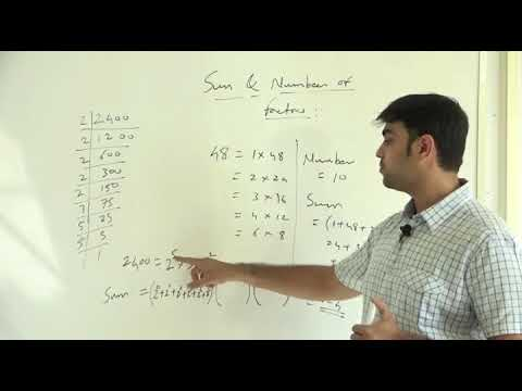Sum & Number of Divisors of a given Number