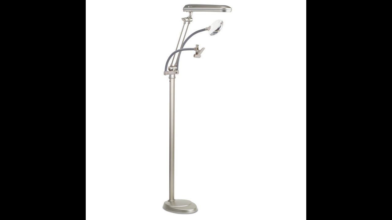Ottlite k94cp3 3 in 1 adjustable height craft floor lamp with ottlite k94cp3 3 in 1 adjustable height craft floor lamp with magnifier and clip champagne youtube aloadofball Image collections