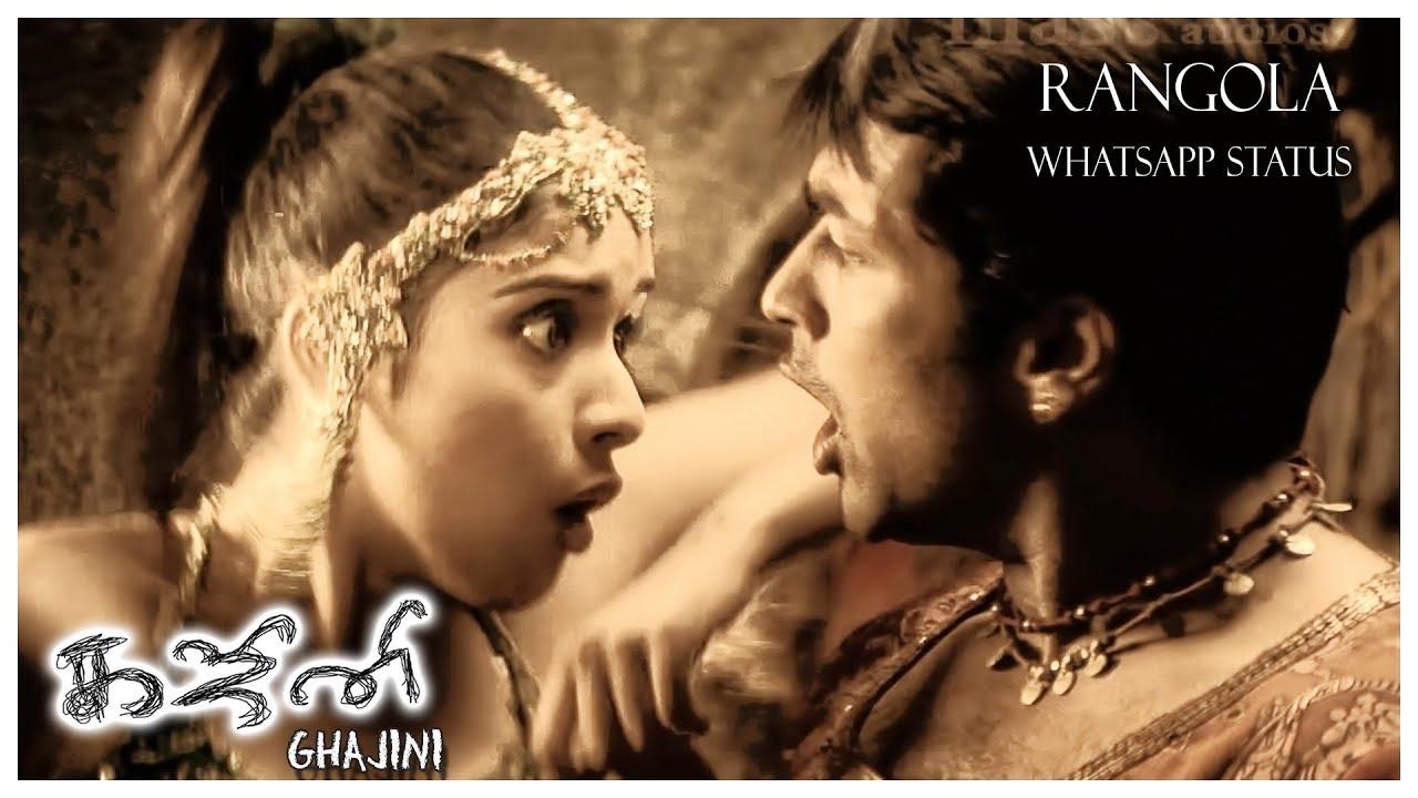 Rangola - Whatsapp Status | Ghajini Tamil Movie | Harris Jayaraj | 3
