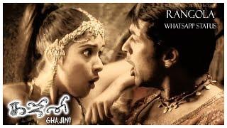 Rangola - Whatsapp Status   Ghajini Tamil Movie   Harris Jayaraj   3