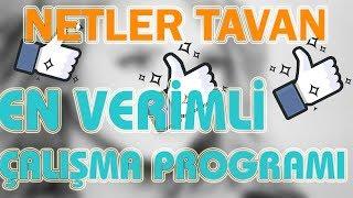 NETLER TAVAN ! En Verimli DERS ÇALIŞMA PROGRAMI ! #Katsayılı Ders Çalışma Programı