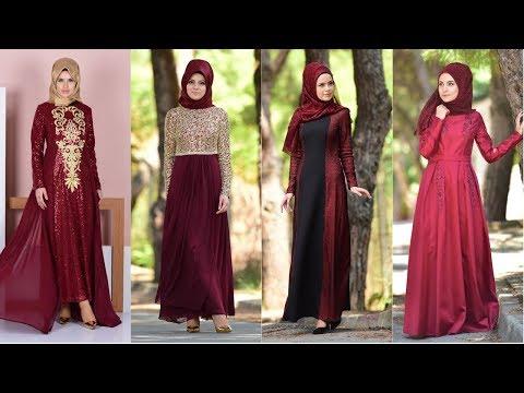 eaacff98ae07f Sefamerve Bordo Renkli Abiye Elbise Modelleri - YouTube