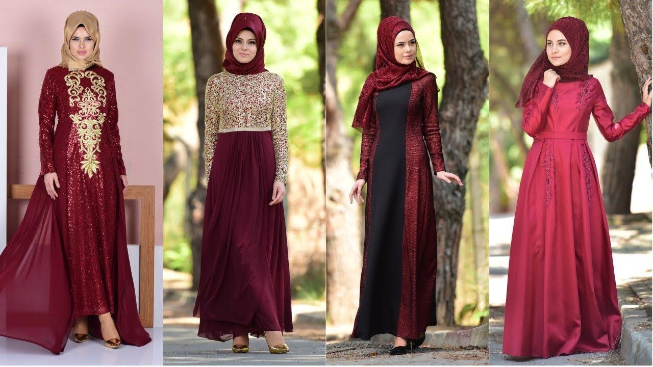 9f86642ccf62d Sefamerve Bordo Renkli Abiye Elbise Modelleri - YouTube