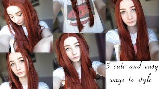 5 cute and easy ways to style your lace front wig - EvaHair Review