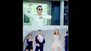 PSY - GANGNAM STYLE (강남스타일) M/V + PSY (ft. HYUNA) 오빤 딱 내 스타일 (SPLIT SCREEN)
