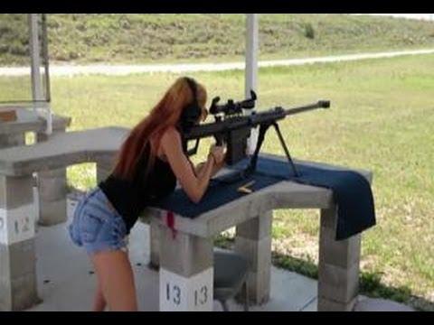 girl shoots gun naked