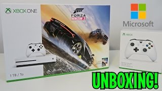 UNBOXING - Microsoft - Xbox One S 1TB Forza Horizon 3 Console Bundle 4K HD - White