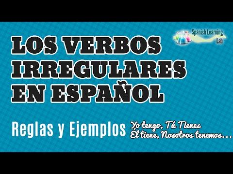 Los Verbos Irregulares en Español en el Presente: Conjugación y Ejemplos