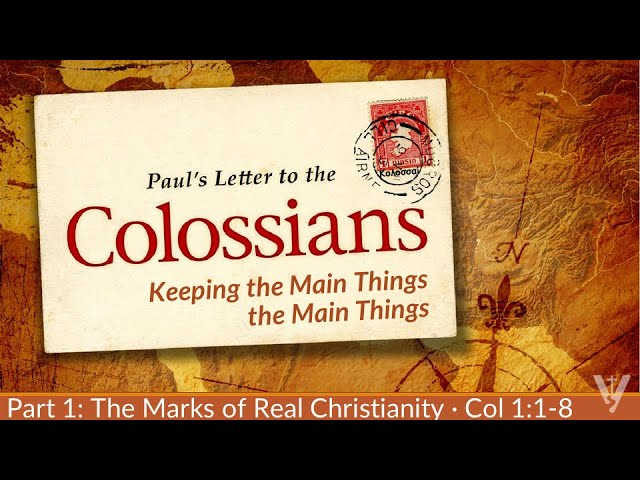 ·Lessons From Colossians · 210131 PM · Bro. Ross Kilfoyle