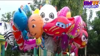 balon mainan anak kecil   balon karakter masha  boboiboy  upin ipin   toys kids balloon air