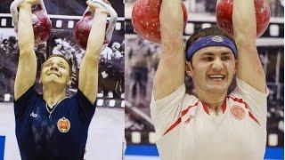 Гиревой спорт: Бенидзе против Рябкова (битва сильнейших) / Kettlebell sport: Ryabkov vs Benidze